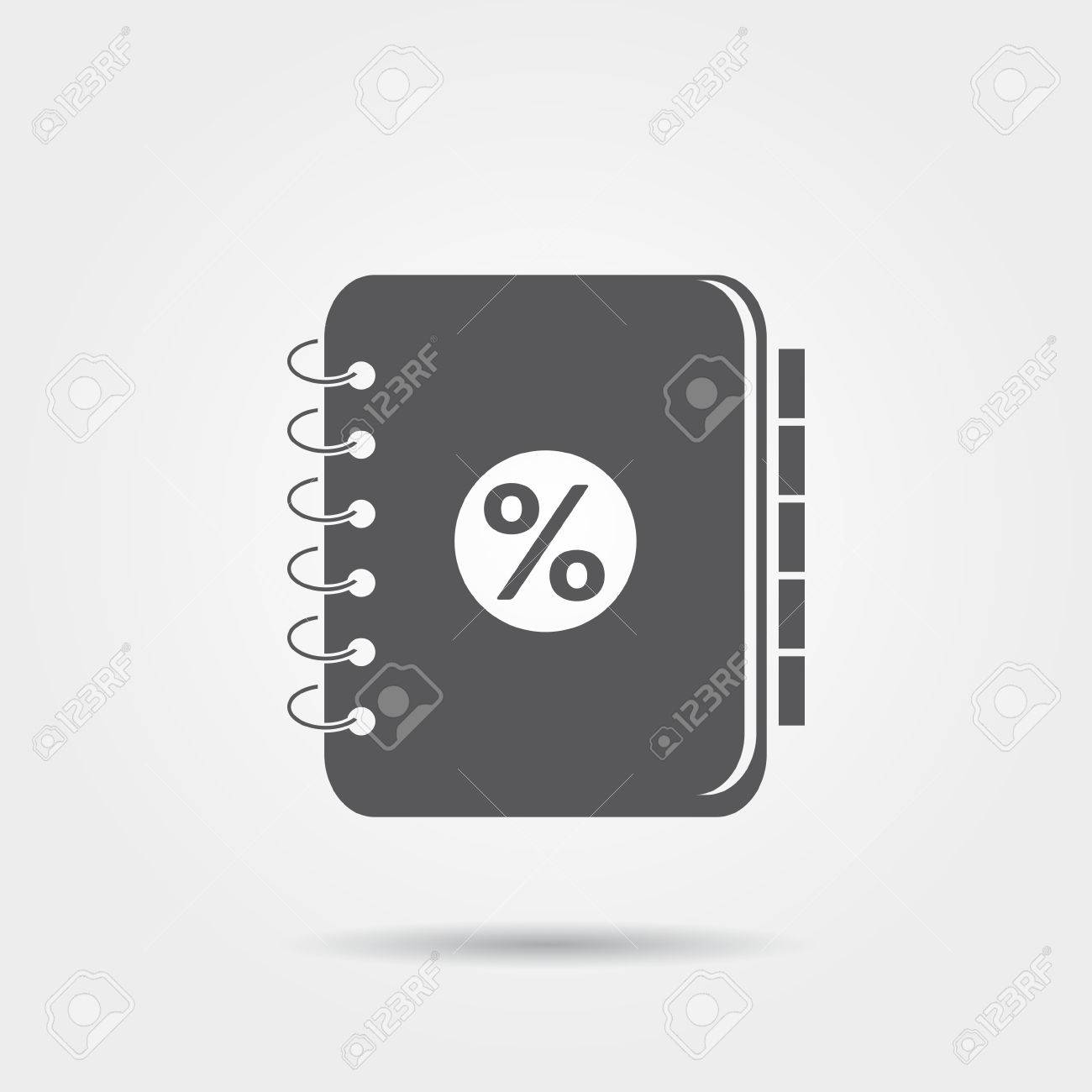 Accounting Ledger Icon Stock Vector