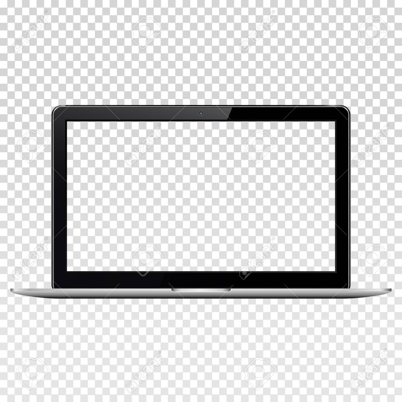 Laptop with transparent screen, isolated on transparent background. - 104003700