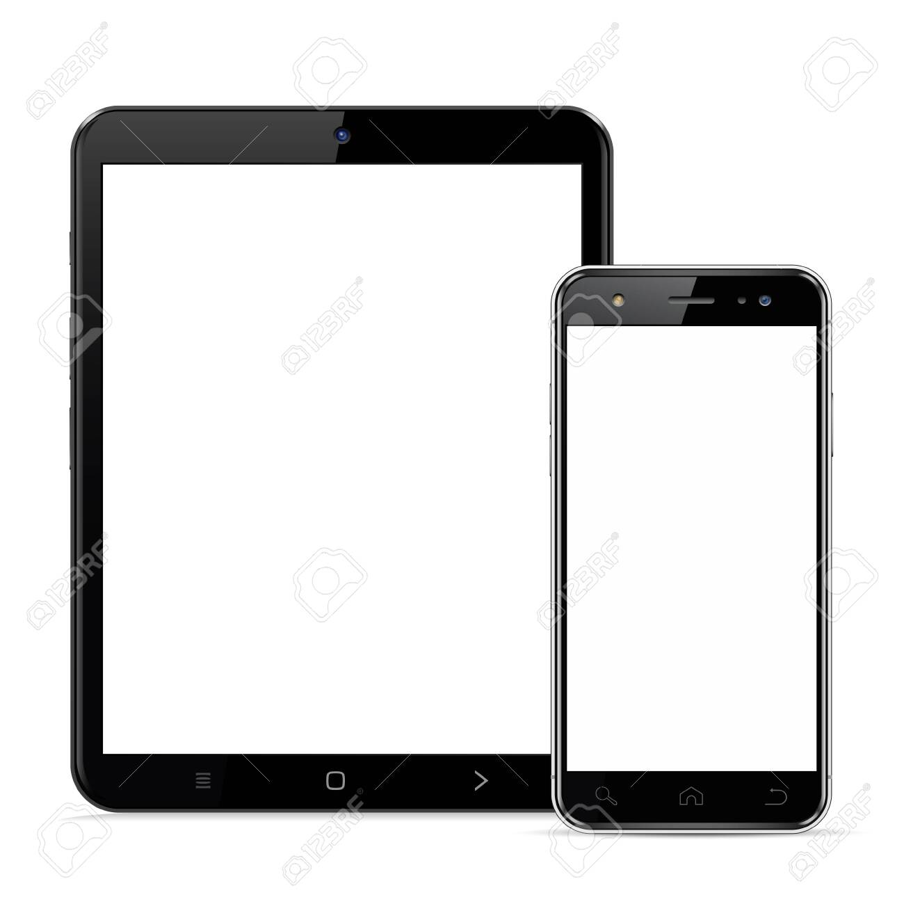 Tablet computer and smartphone template for adaptive design presentation - 150020465