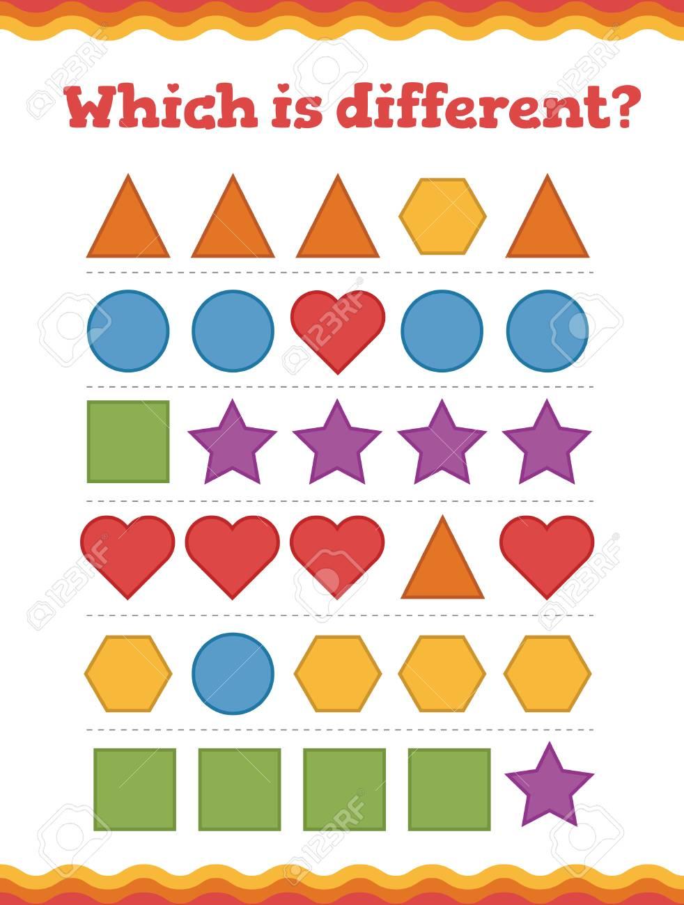 .Learn shapes and geometric figures. Preschool or kindergarten..