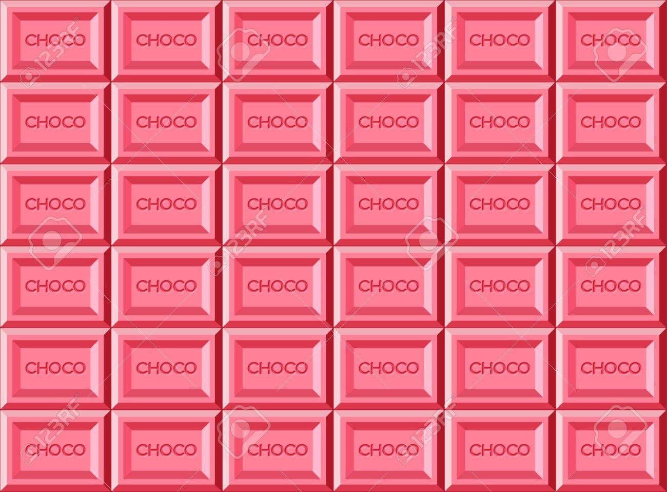 Pink Chocolate Bar Stock Photo, Picture And Royalty Free Image ...
