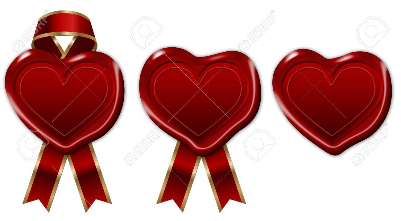 red wax seal with ribbon Stock Photo - 17274076