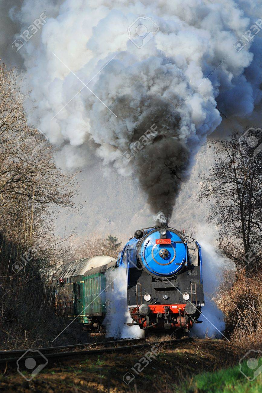 Prague steam train Stock Photo - 16628114