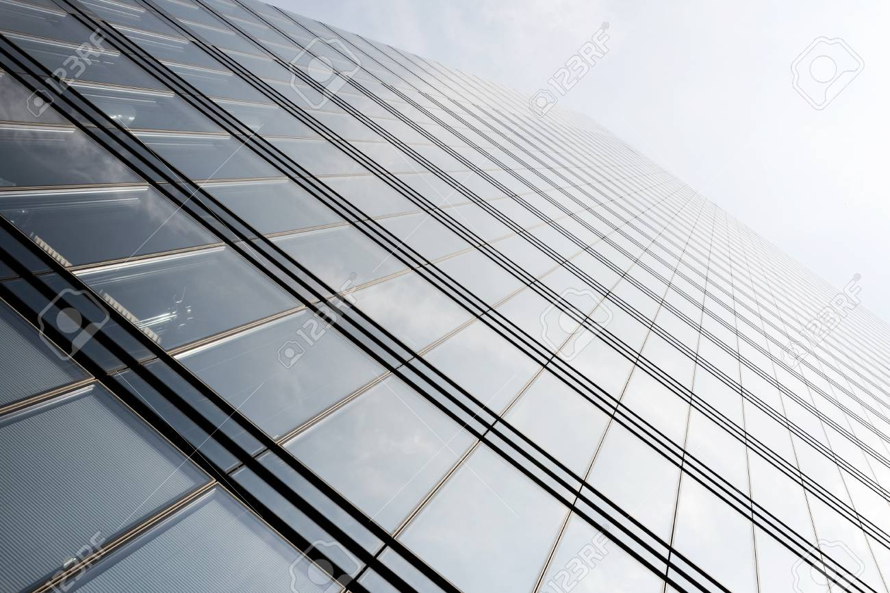 View up at a new modern architecture made of glass, concrete and steel Stock Photo - 20419424
