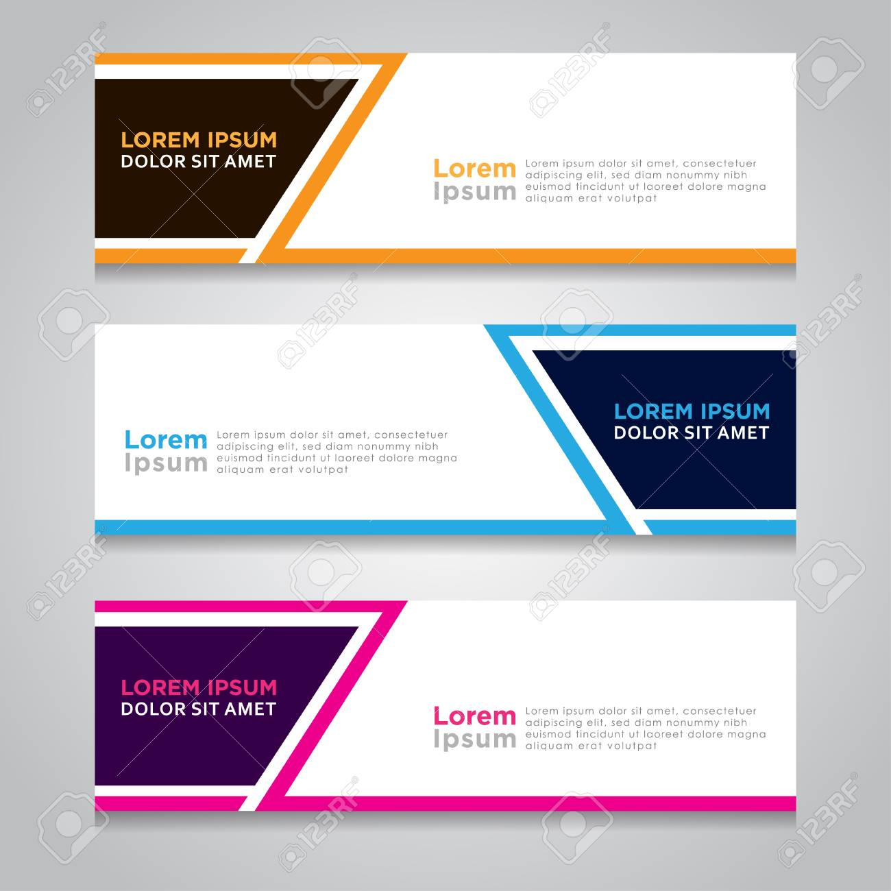 vector abstract design web banner template web design elements