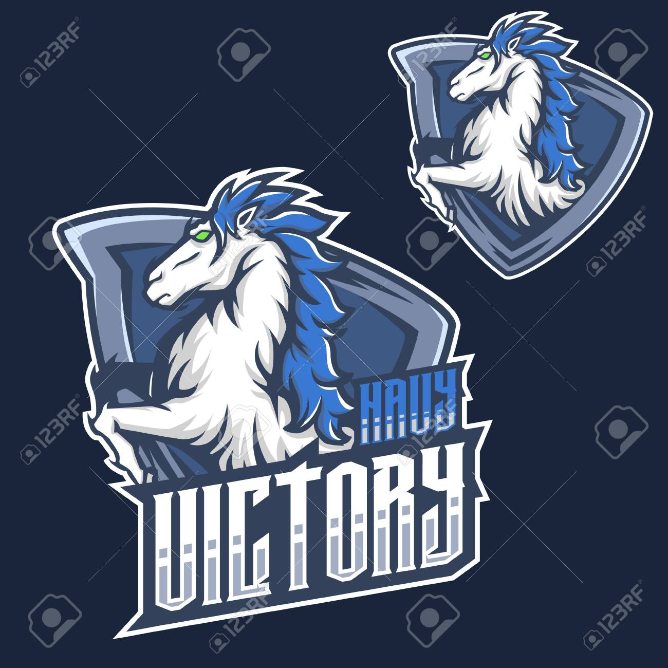 Mascot F Mustang Horse Head Esport Gaming Mascot Logo Template Royalty Free Cliparts Vectors And Stock Illustration Image 124368014