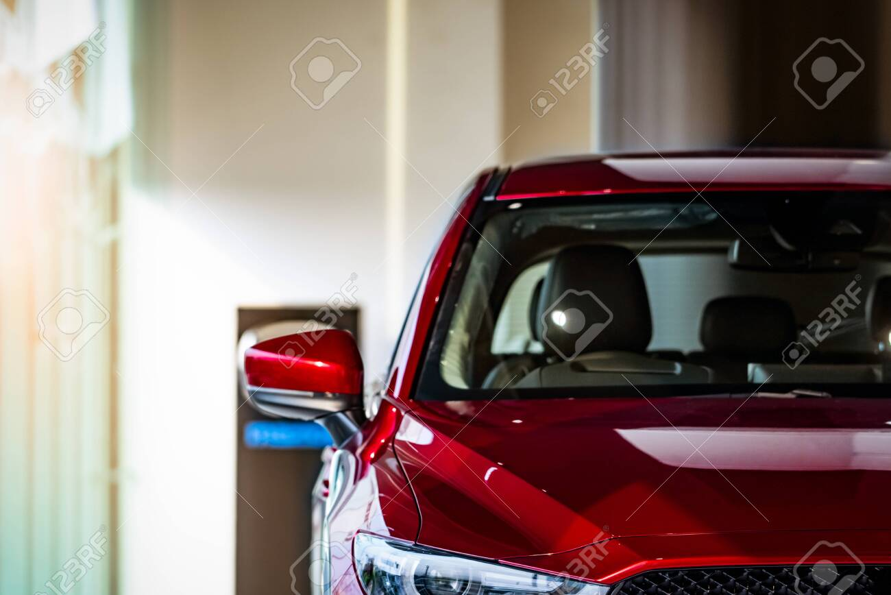 New Red Luxury Suv Compact Car Parked In Modern Showroom For Stock Photo Picture And Royalty Free Image Image 119888677