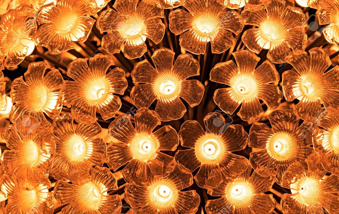 Flower Shaped Glass Lamp Led Light Bulb Decorative With Flower
