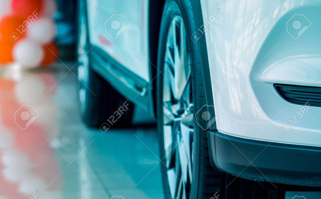 Closeup New White Luxury Suv Car Parked In Modern Showroom Car Stock Photo Picture And Royalty Free Image Image 147960019