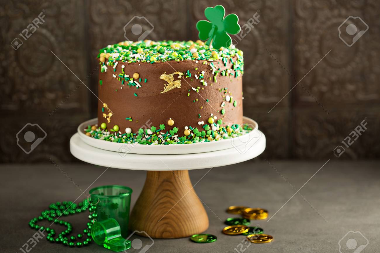 Awesome St Patricks Day Chocolate Cake Stock Photo Picture And Royalty Funny Birthday Cards Online Necthendildamsfinfo