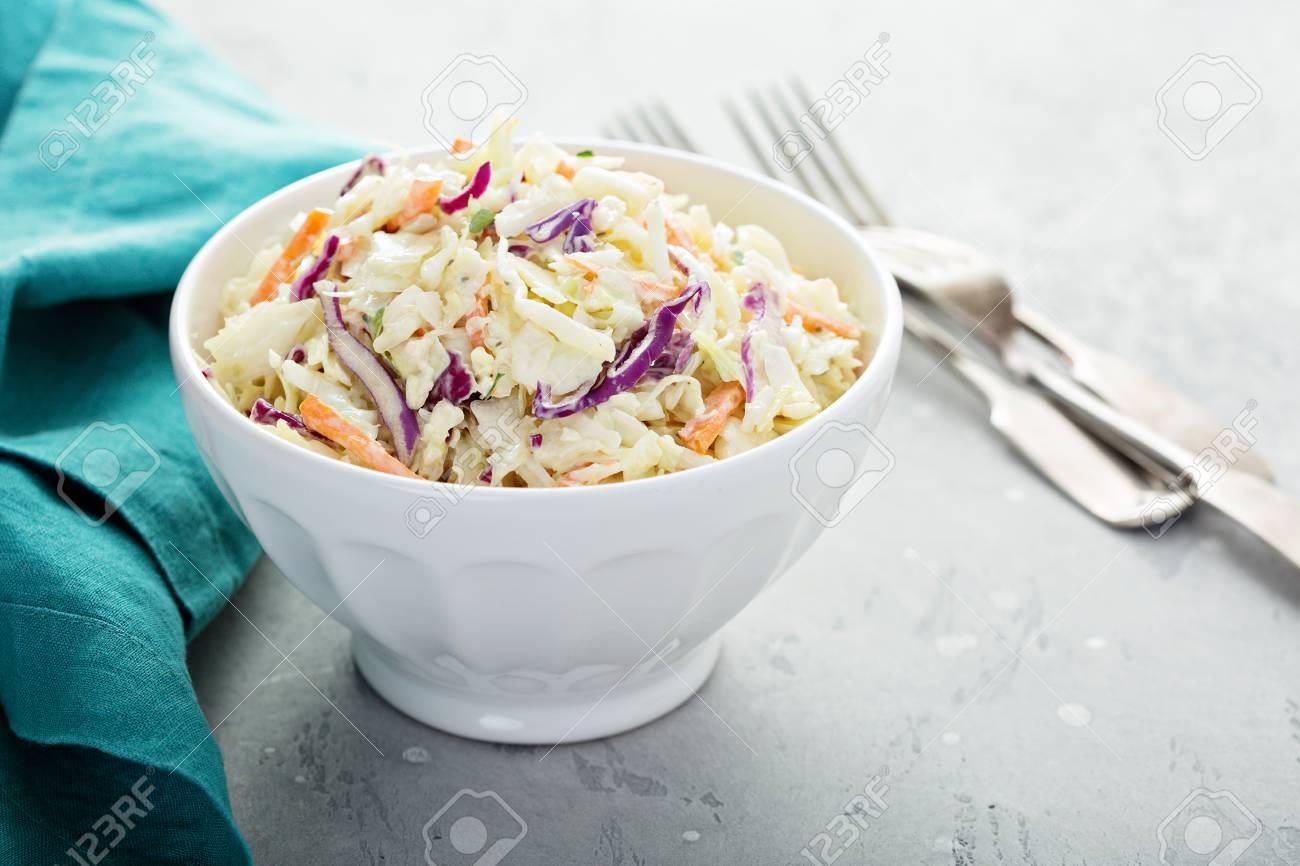 Traditional cole slaw salad - 105940986