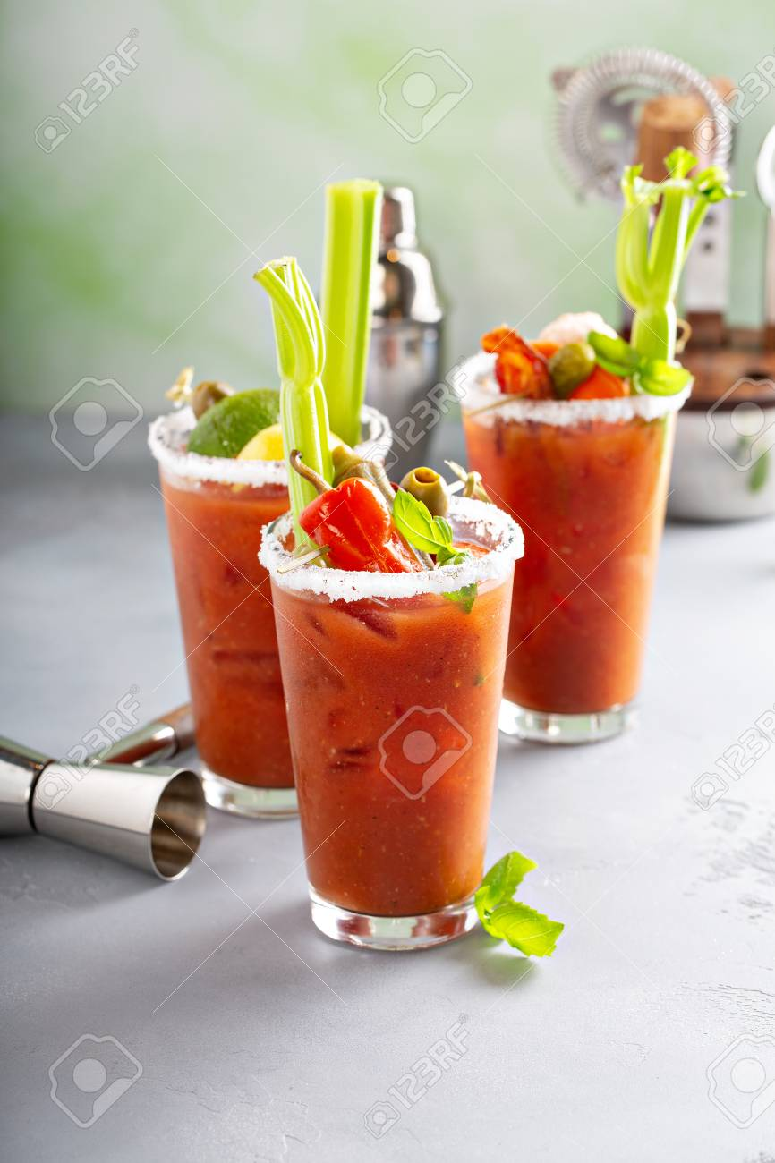 Bloody mary cocktails for brunch - 118570927