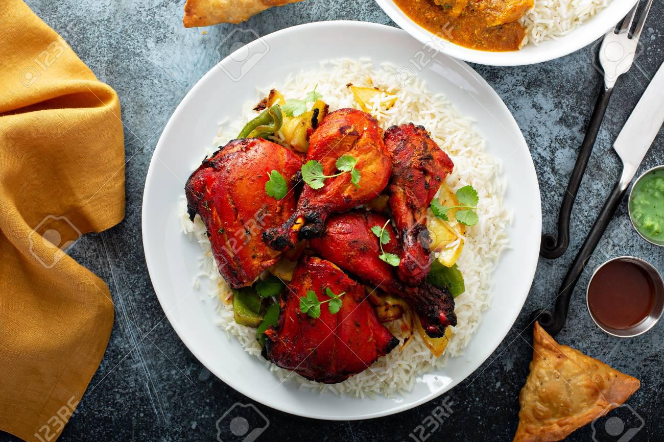 Whole tandoori chicken - 122995680