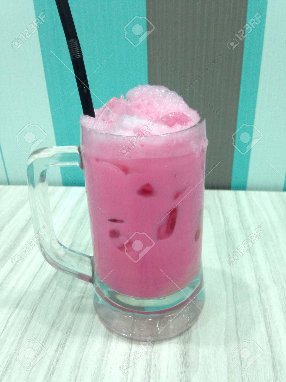 Special Drink Sirap Bandung Stock Photo Picture And Royalty Free