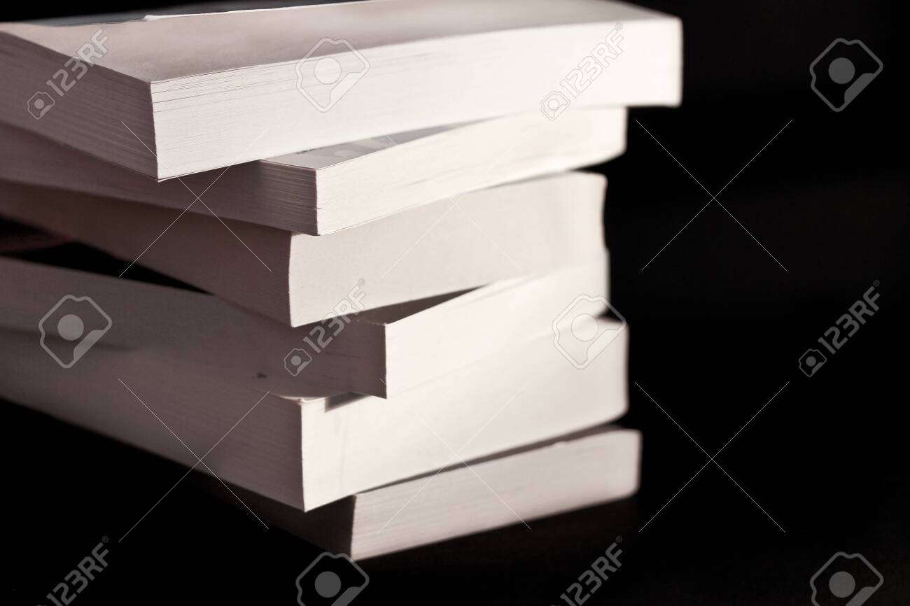 a still-life of a pile of books and paper Stock Photo - 10042264