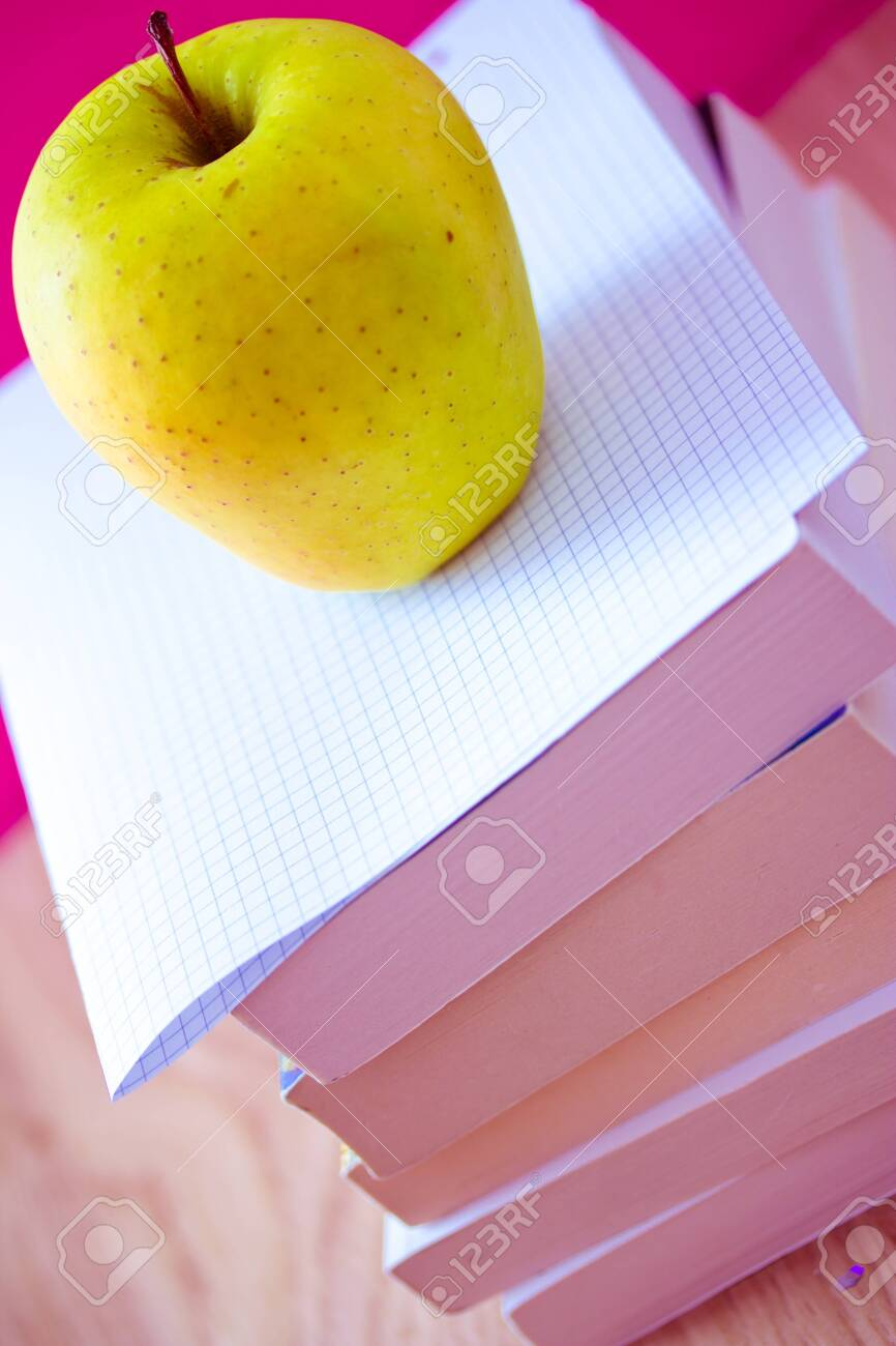 apple and books for school Stock Photo - 12884175