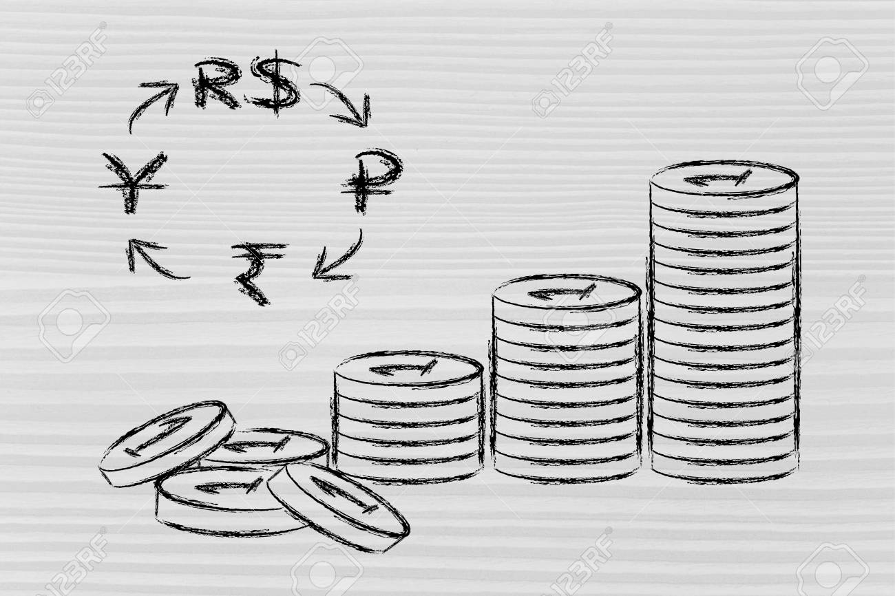Concept of exchange rates coins and brics currency symbols stock concept of exchange rates coins and brics currency symbols stock photo 26441071 biocorpaavc