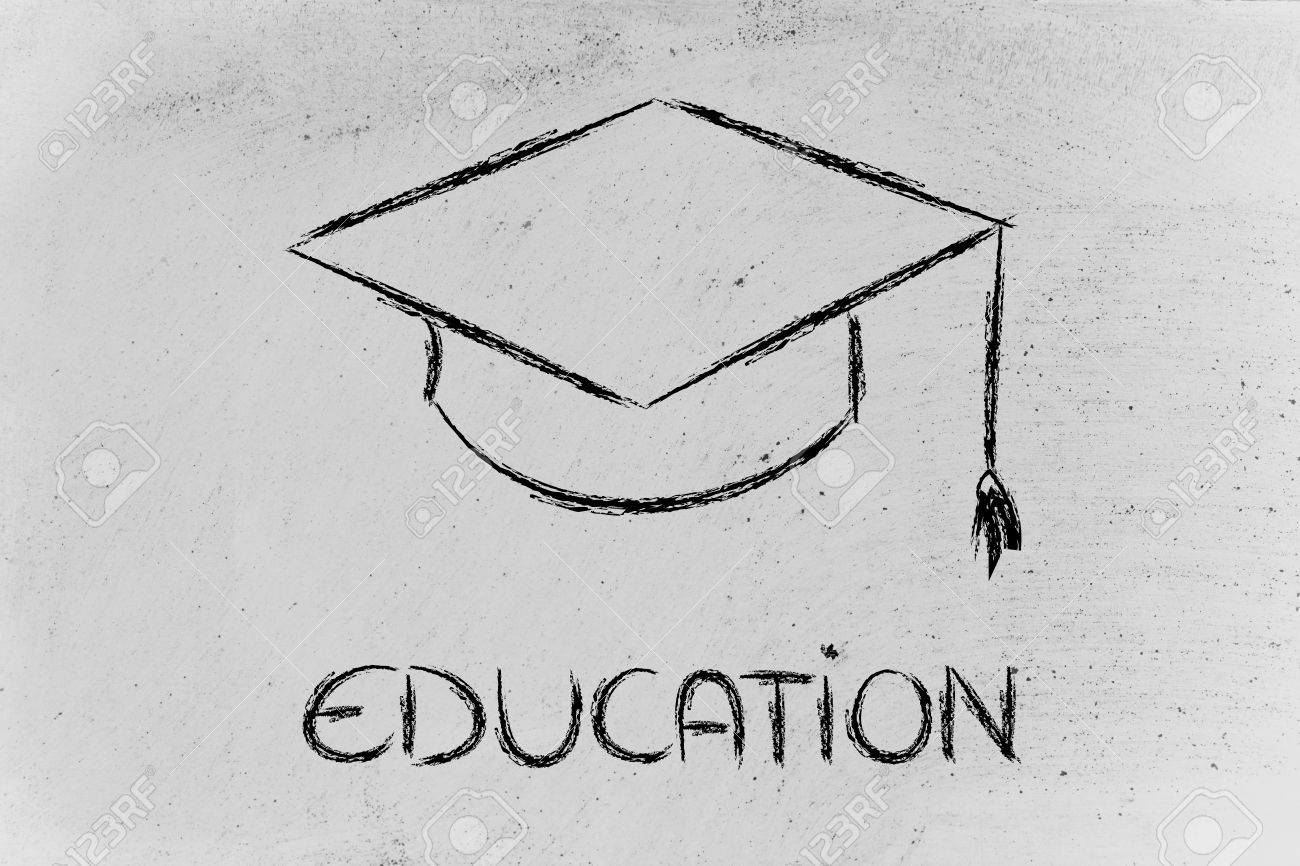 Graduation Hat Symbol Of Education Stock Photo Picture And Royalty