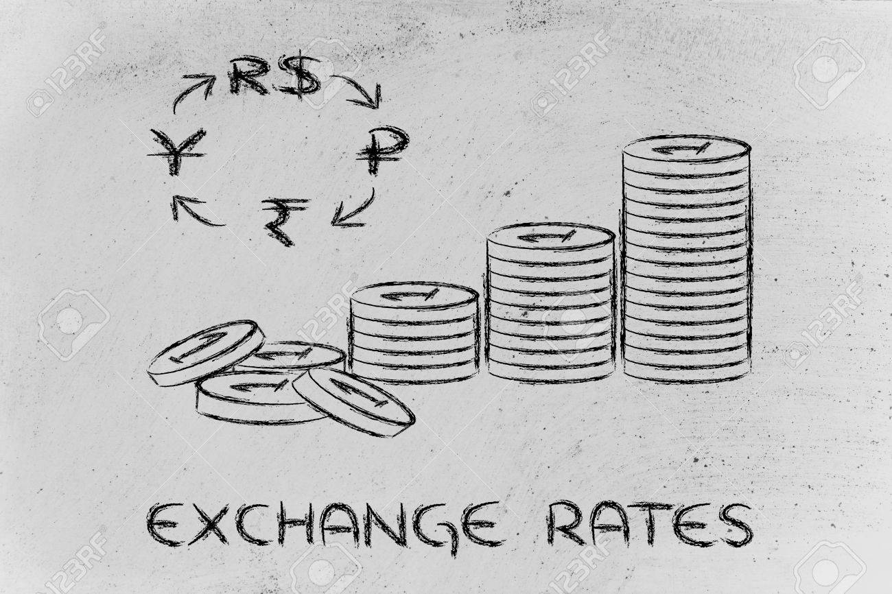 Concept of exchange rates coins and brics currency symbols stock concept of exchange rates coins and brics currency symbols stock photo 27507645 biocorpaavc