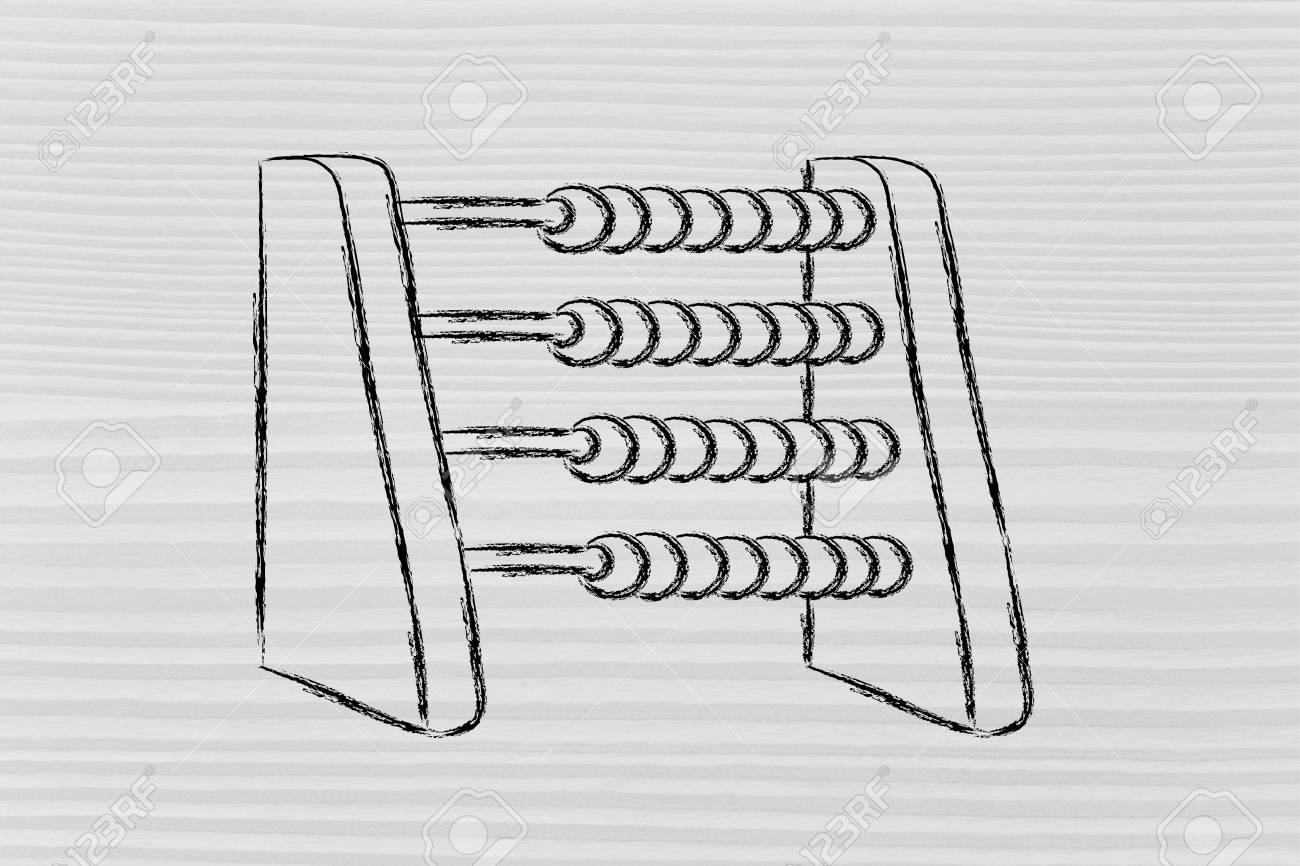 plan your savings or establish a budget funny abacus design stock