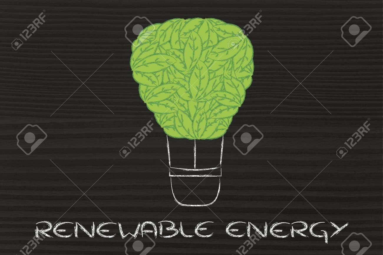 La Energía Renovable Y La Ecología, La Metáfora Divertida Con Globo ...
