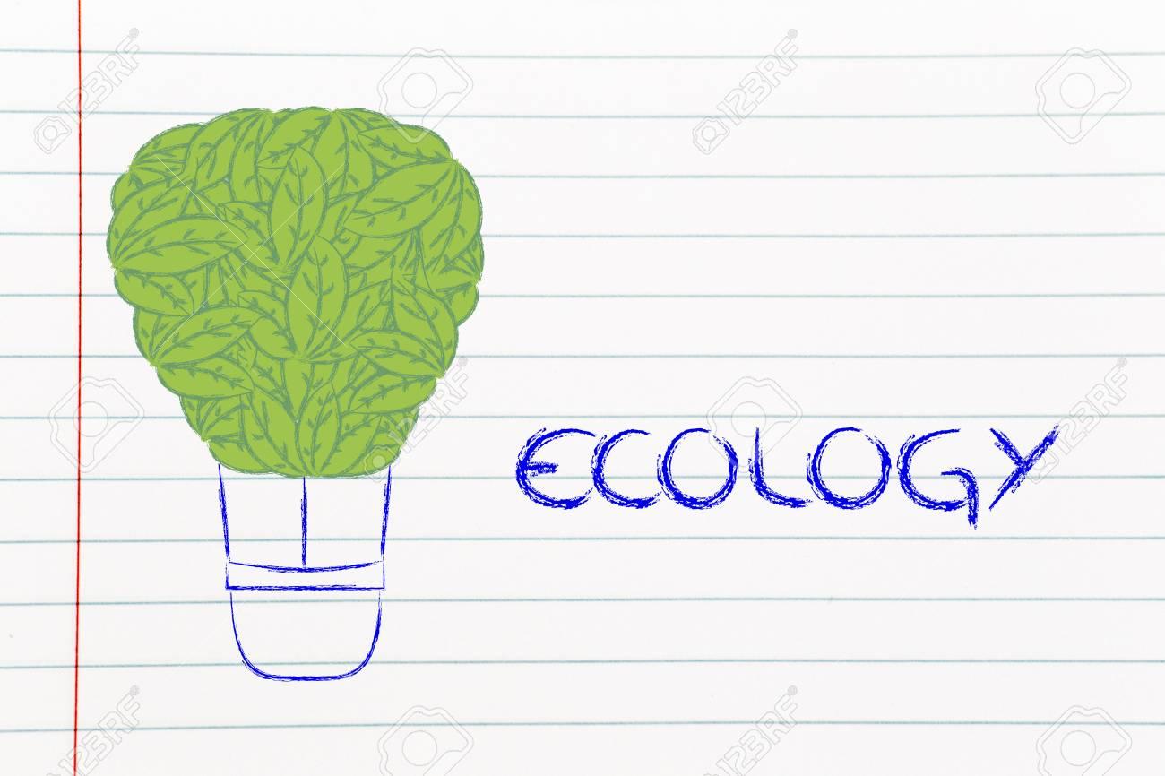 Energía Renovable Y La Ecología, La Metáfora Divertida Con Globo De ...