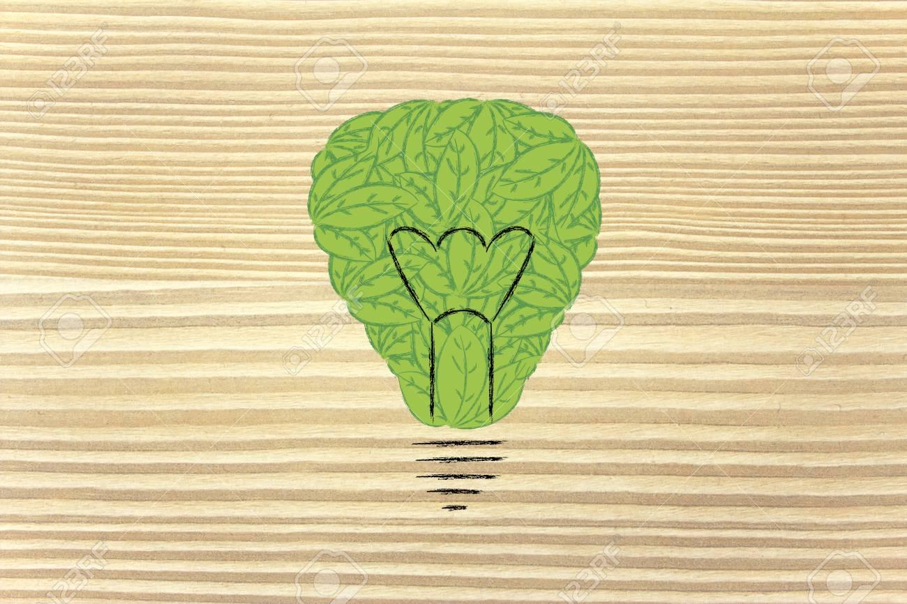 Economía Verde Y La Energía Reneawable: Metáfora De Bombilla Hecha ...