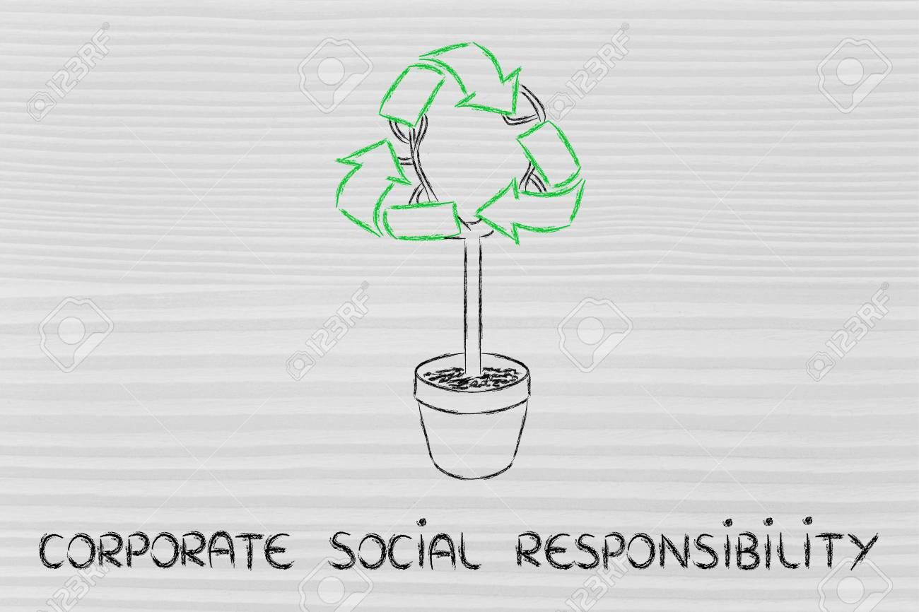 Immagini Stock Economia Verde E Responsabilità Sociale Delle