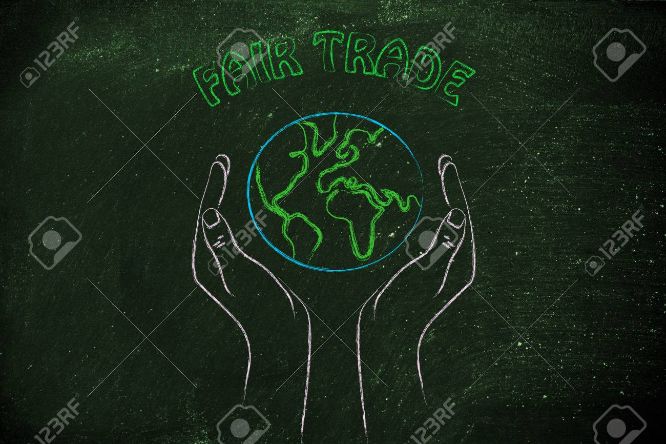 4e2551d38858 Banque d images - Le commerce équitable et le respect de la nature  la  métaphore de mains tenant la planète