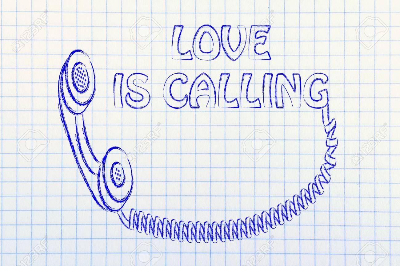 Divertido Teléfono De La Vieja Escuela Con Texto Motivacional El Amor Está Llamando