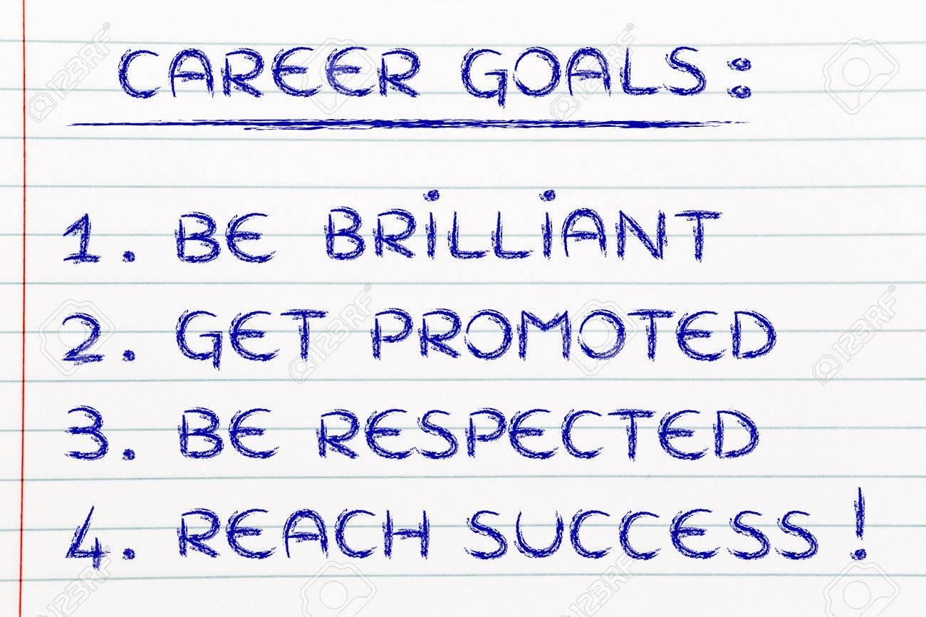 goals in career