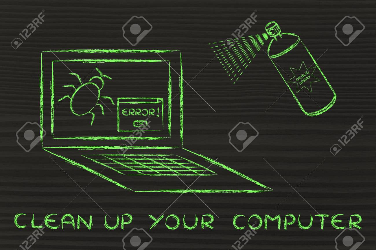 clean up your system: getting rid of computer bugs with a funny