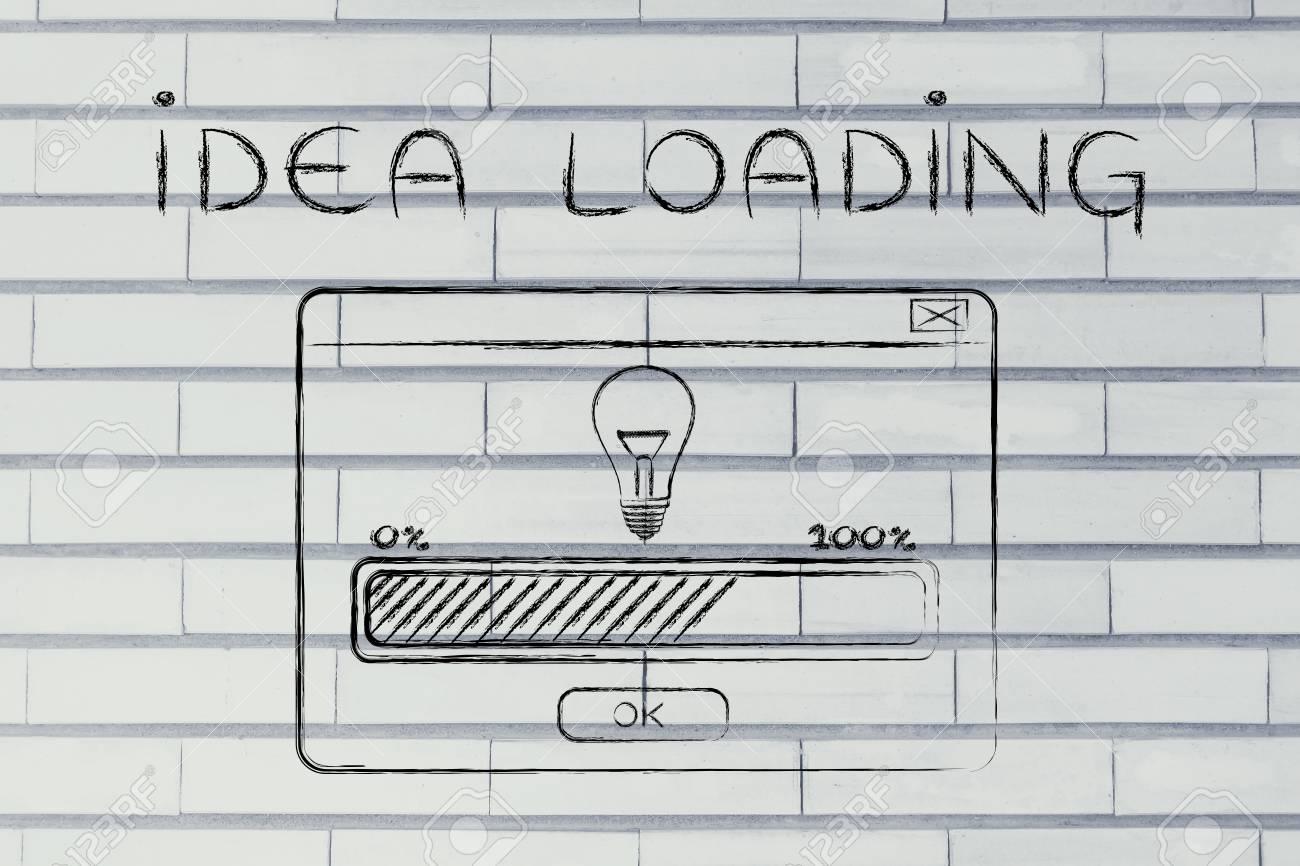 Idée Chargement Illustration Avec Fenêtre Pop Up Et Barre De