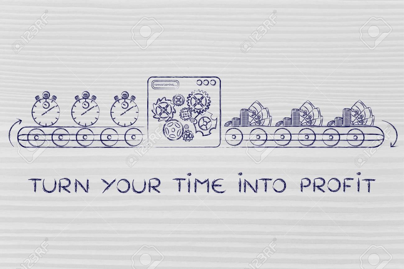 Machen Sie Ihre Zeit Profitabel Produktionslinie Die Stoppuhren In