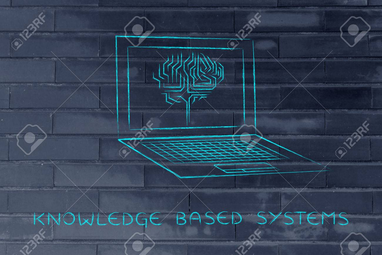 knowledge based systems: laptop with artificial intelligence