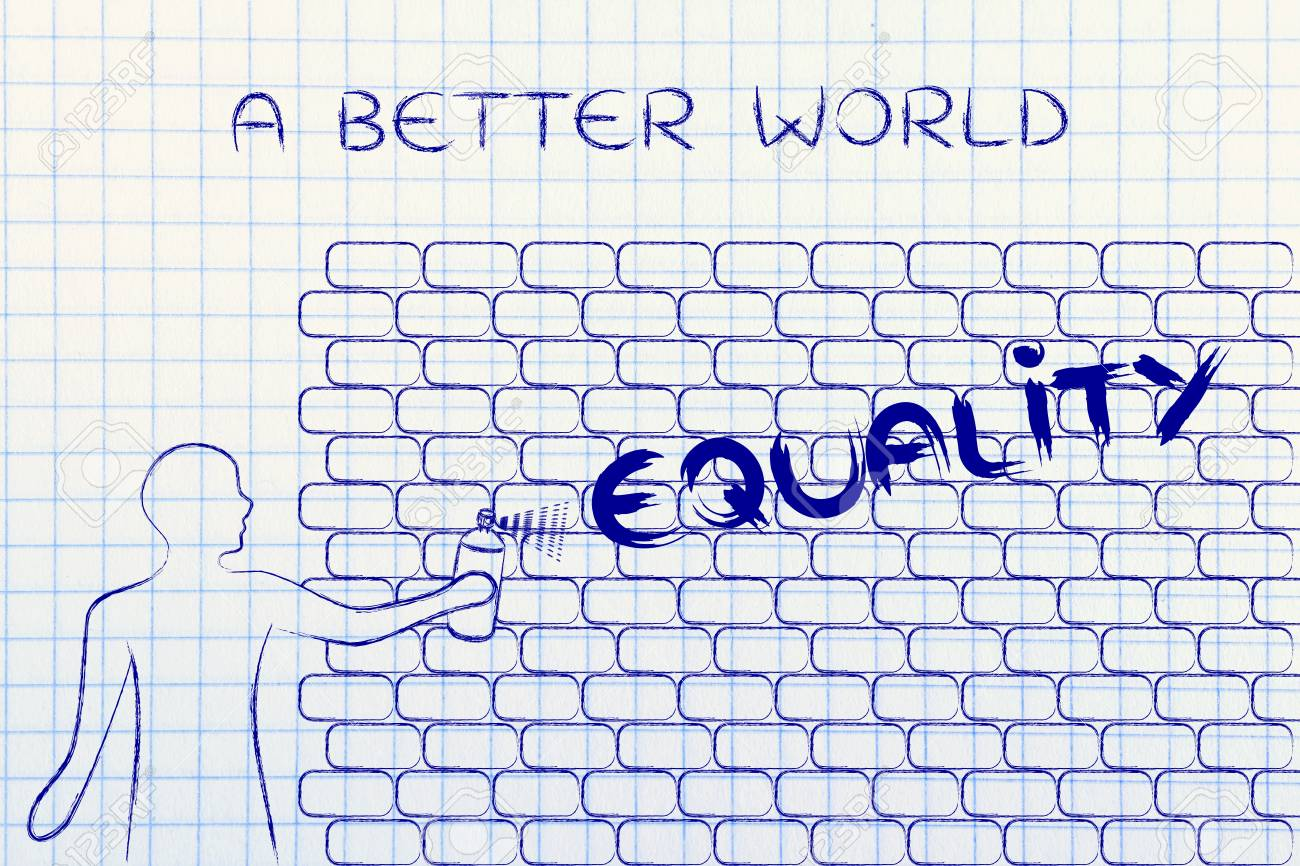 Person with spray paint writing the word equality as wall graffiti person with spray paint writing the word equality as wall graffiti a better world stock ccuart Image collections