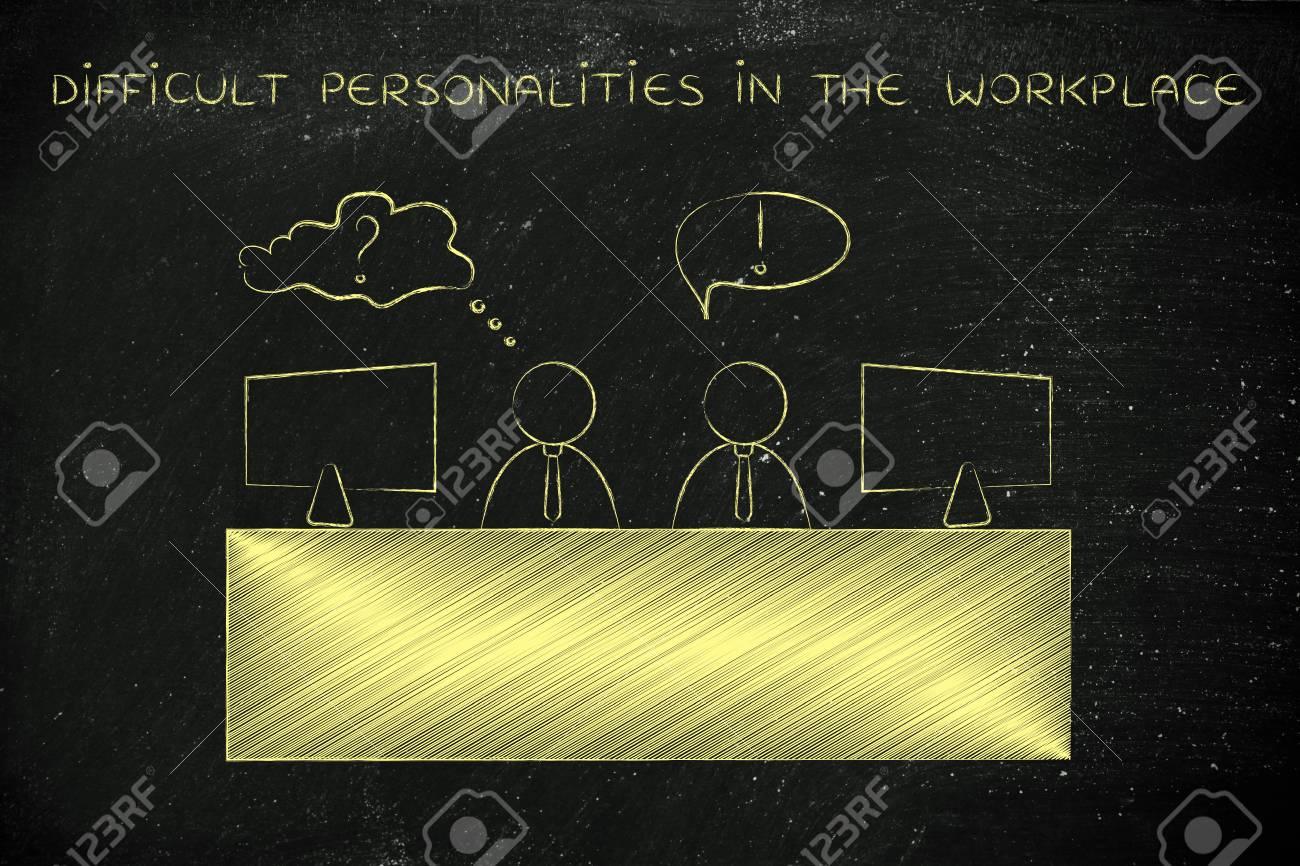 contrasting personalities