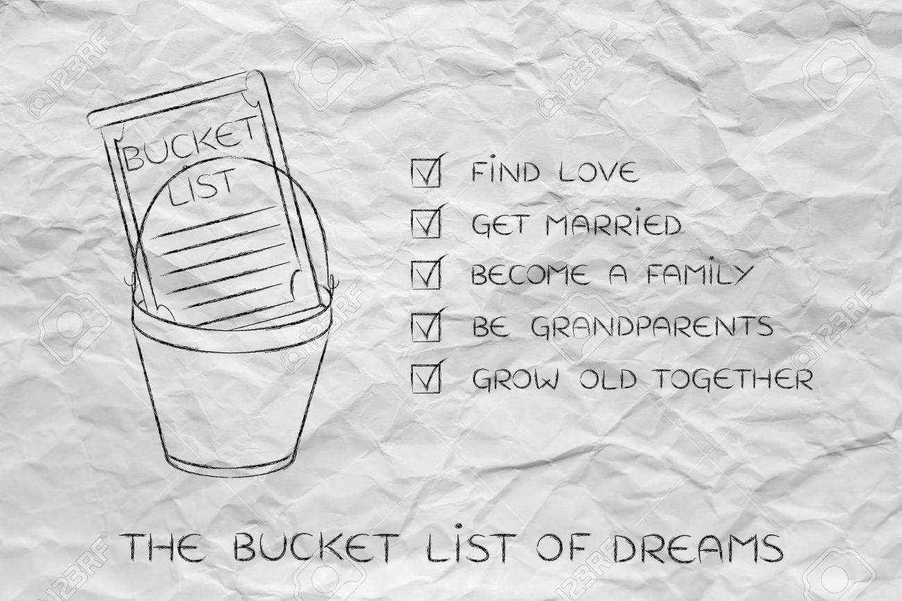 Bucket List Of Private Life Related Dreams And Goals Love And Stock Photo Picture And Royalty Free Image Image 61874621
