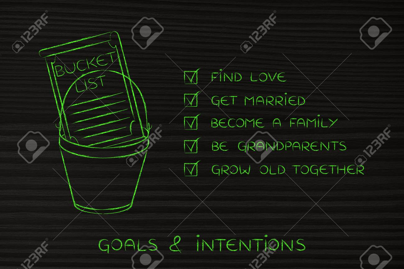 Bucket List Of Private Life Related Dreams And Goals Love And Stock Photo Picture And Royalty Free Image Image 61874952