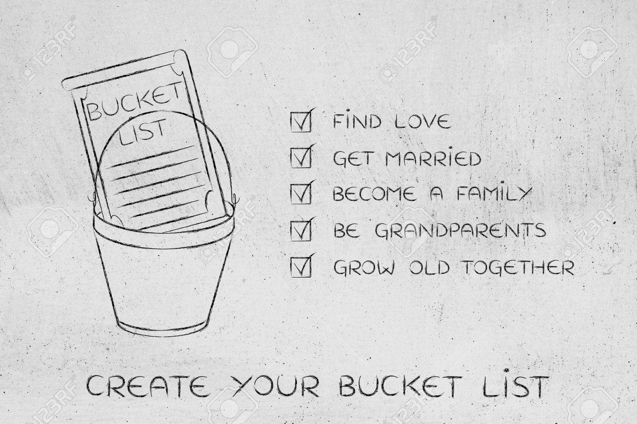 Bucket List Of Private Life Related Dreams And Goals Love And Stock Photo Picture And Royalty Free Image Image 61874980