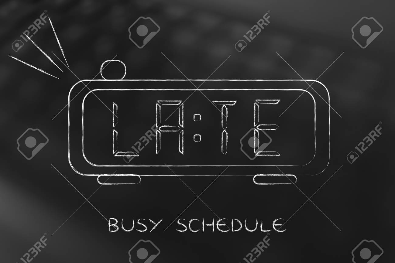 word for busy schedule