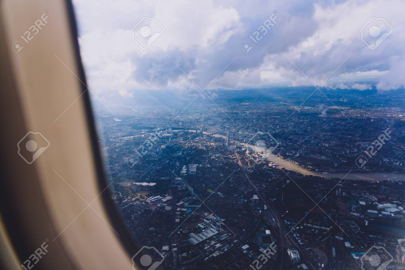 Super Aerial View Of The City Of London From Airplane Window Seat Approaching Landing Gmtry Best Dining Table And Chair Ideas Images Gmtryco