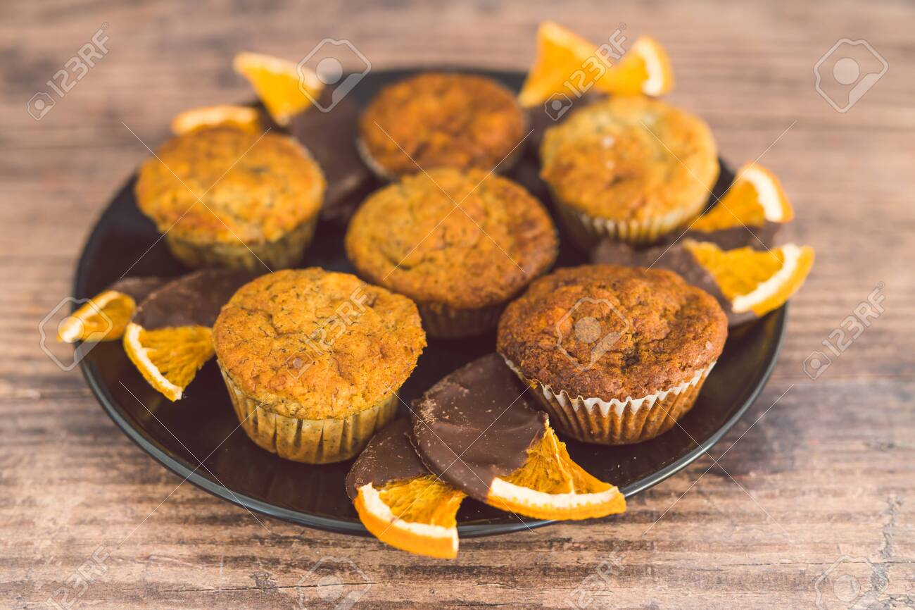 Healthy Plant Based Desserts Concept Vegan Banana Muffins With Stock Photo Picture And Royalty Free Image Image 139458963