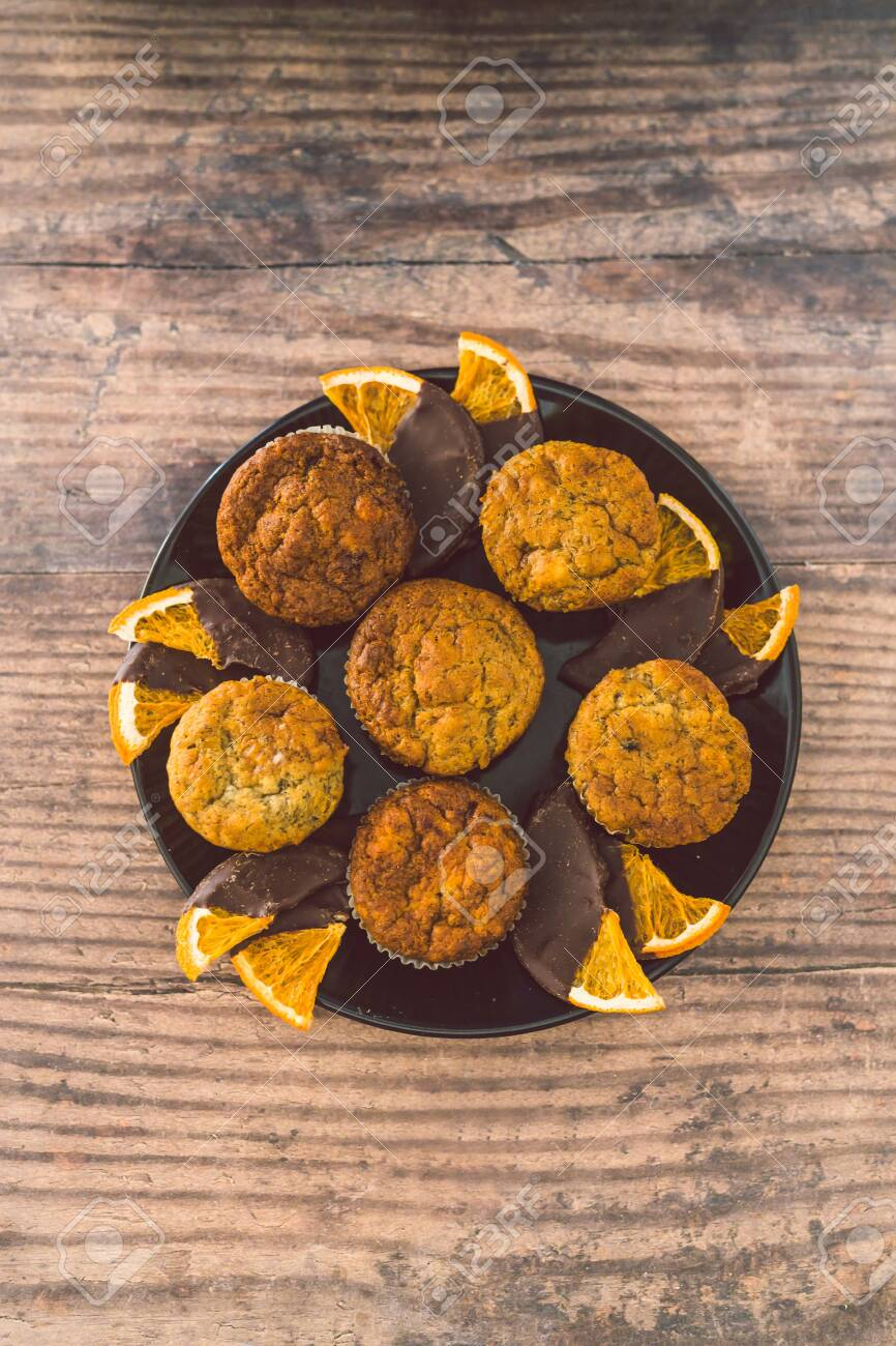 Healthy Plant Based Desserts Concept Vegan Banana Muffins With Stock Photo Picture And Royalty Free Image Image 139459840