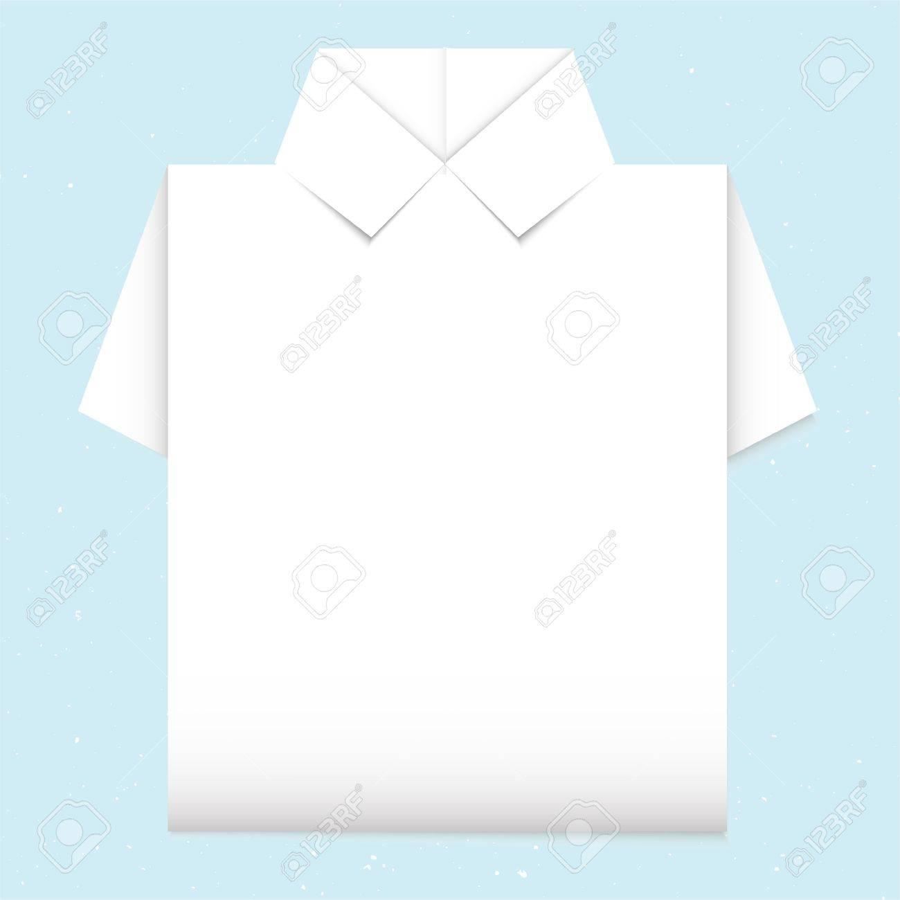 Blank Shirt Origami Royalty Free Cliparts Vectors And Stock