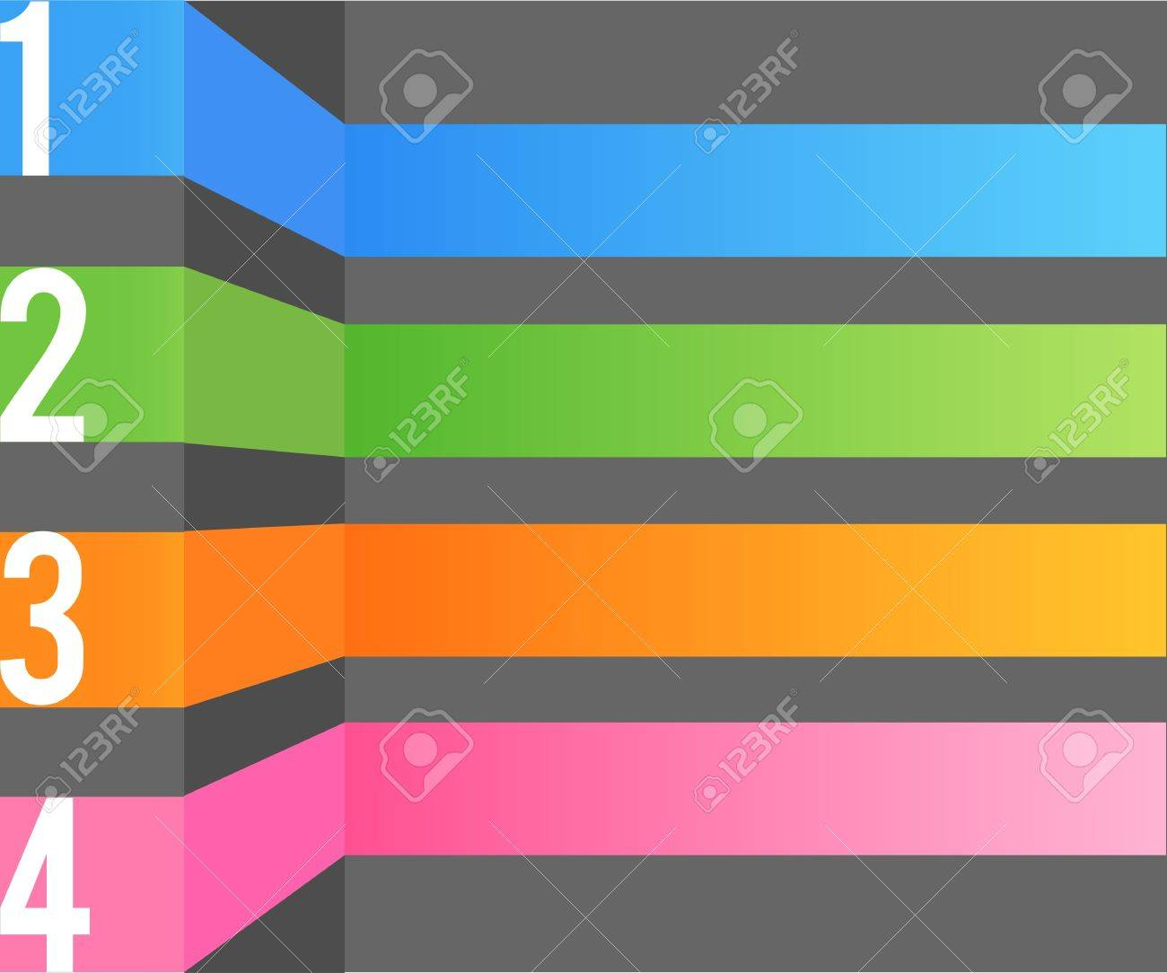 infographic color bar Stock Vector - 17019695