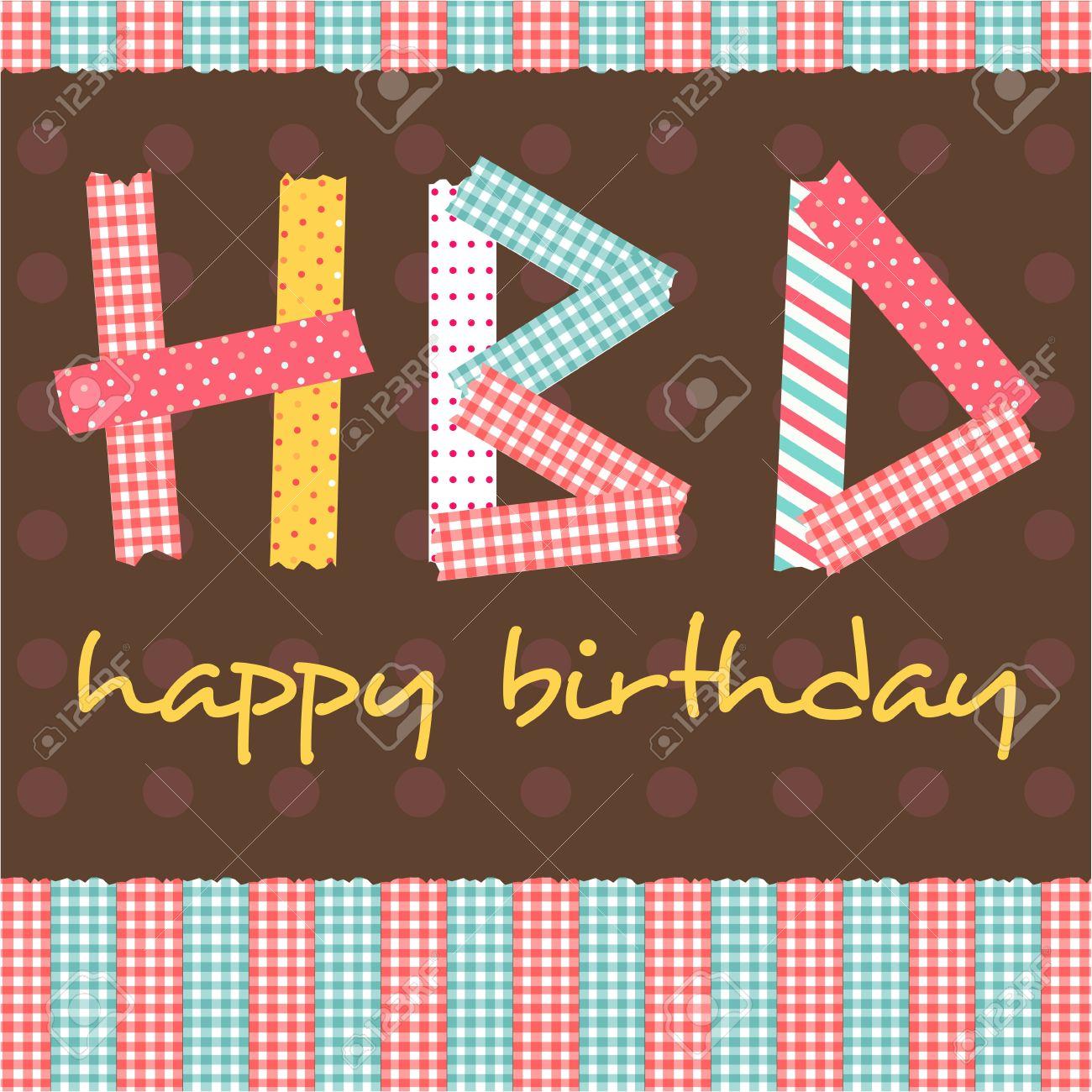 Happy Birthday Card Scrapbook Style Royalty Free Cliparts Vectors – Scrapbook Birthday Cards