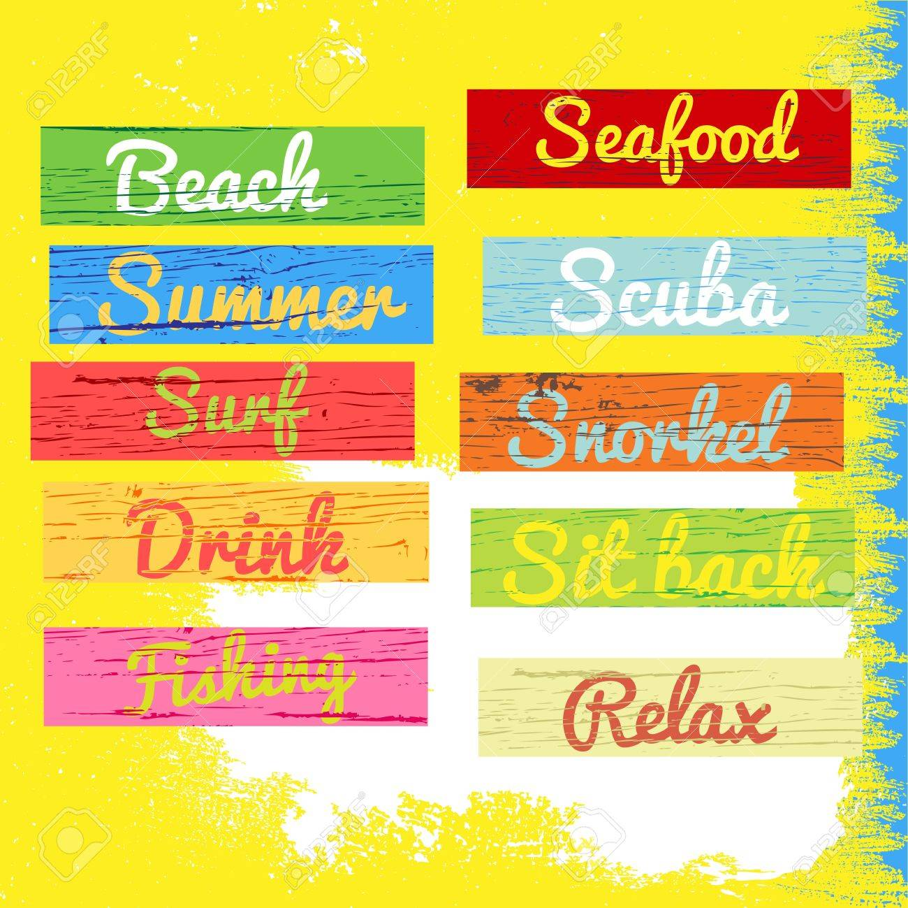 beach sign wood grunge texture Stock Vector - 18933962