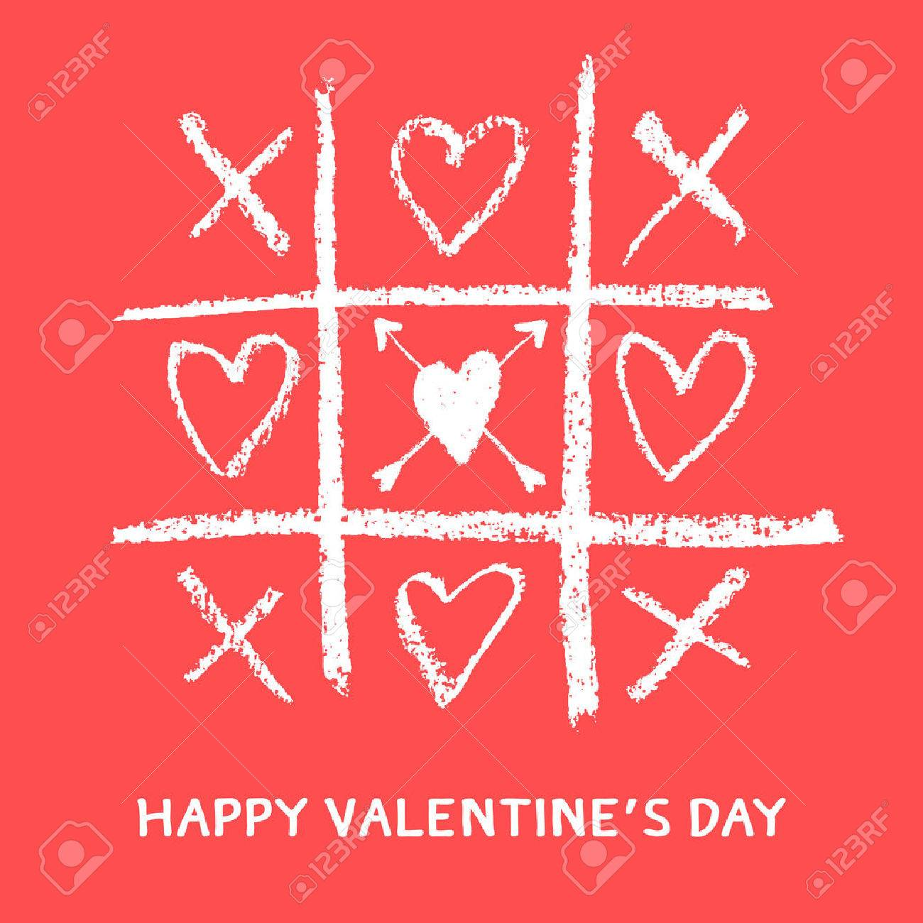 Happy Valentines Day Greeting Cardxoxohug And Kiss Royalty Free
