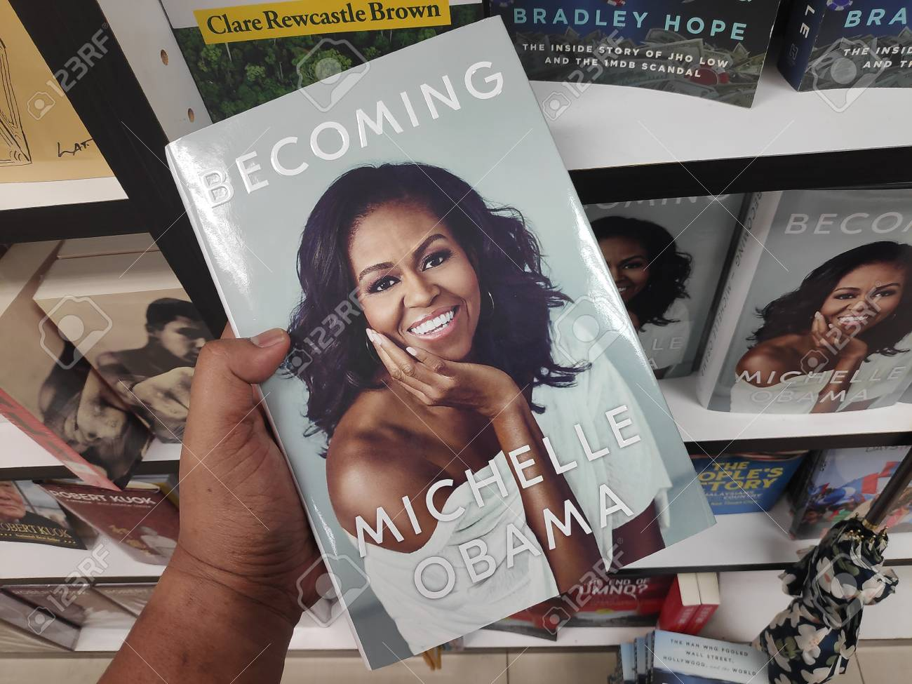 MIRI,MALAYSIA - CIRCA MARCH,2019 : Becoming book written by Michelle Obama at the bookstore. - 118179957